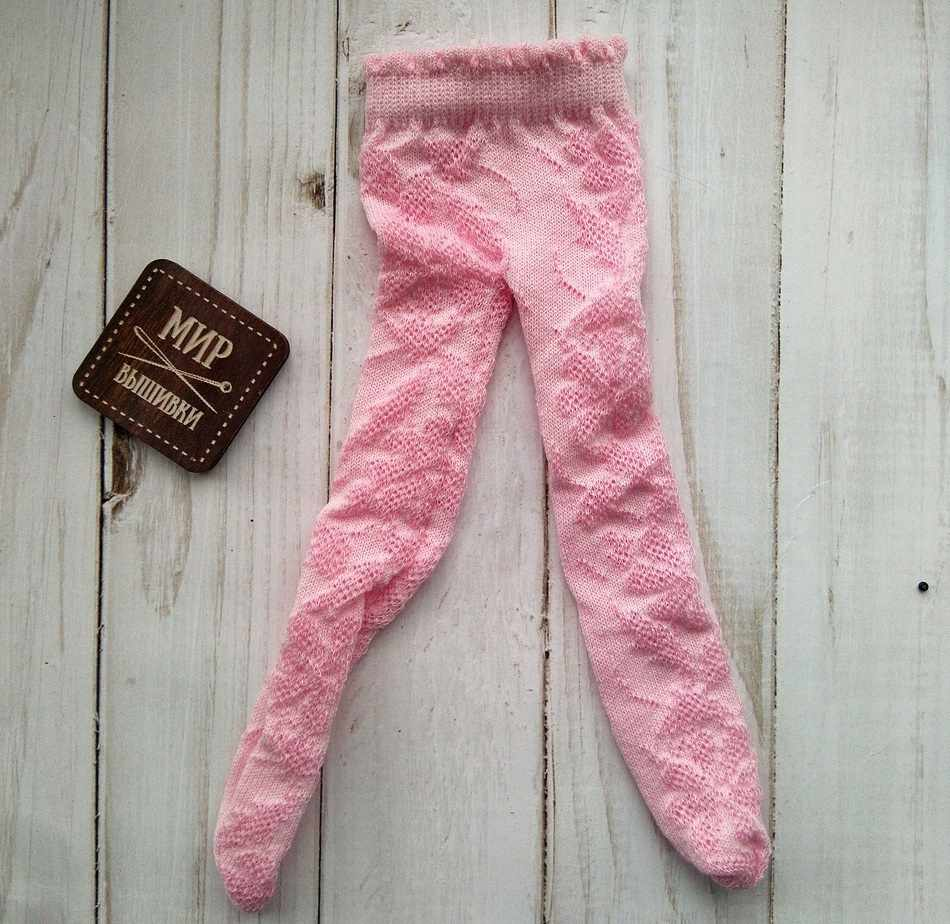 Колготки на куклу, розовый, 20-25 см