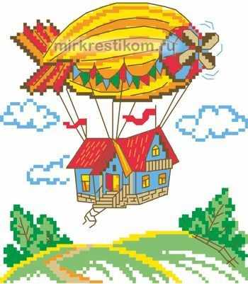 8140 Дирижабль - схема для вышивания (Искусница)