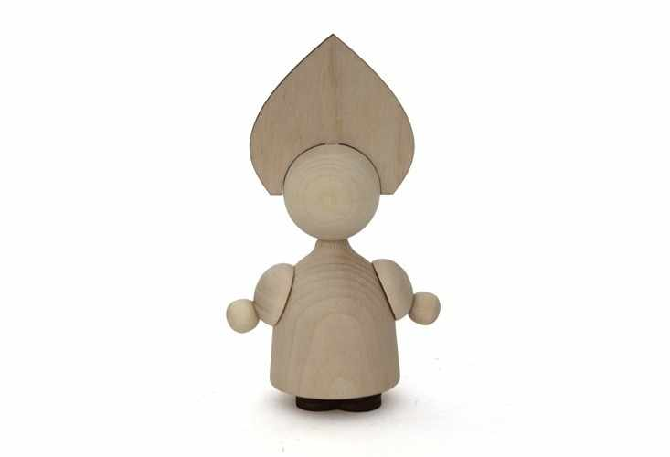 5643Z Заготовка деревянная кукла