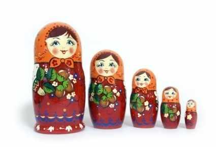 ОК-005-31 Матрешка Россияночка 5 кукольная авторская