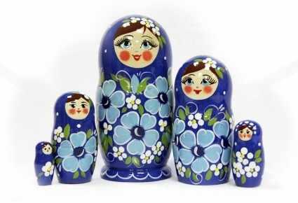 "ОК-005-42 Матрешка ""Ксюша"" авторская (5 кукол)"