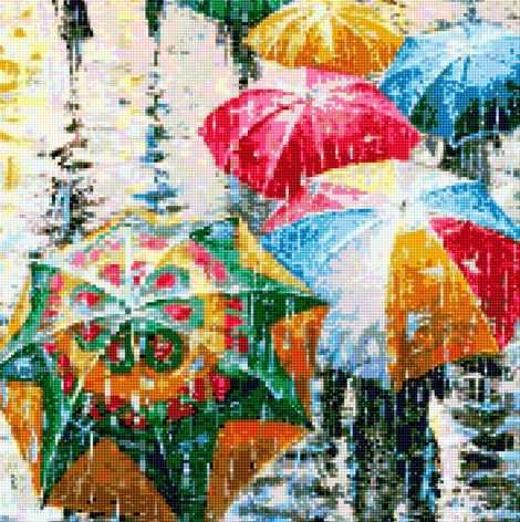 50032 Разноцветные зонтики