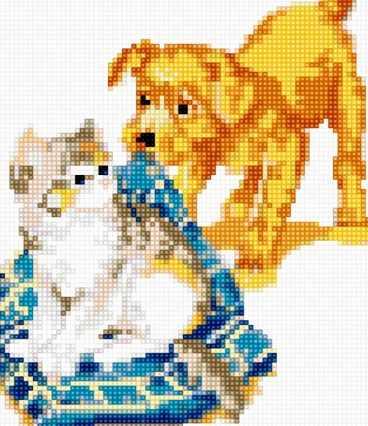 50076 Щенок и котёнок
