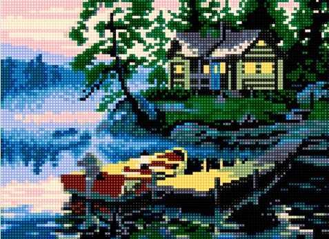 50084 Вечер на реке