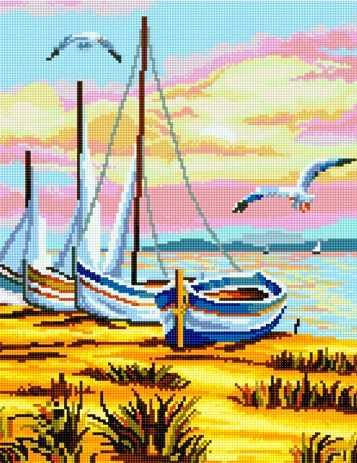 50087 Лодки на берегу