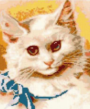 Алмазная вышивка 50089 Белый котик