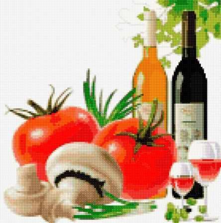 50095 Вино, томаты и грибы