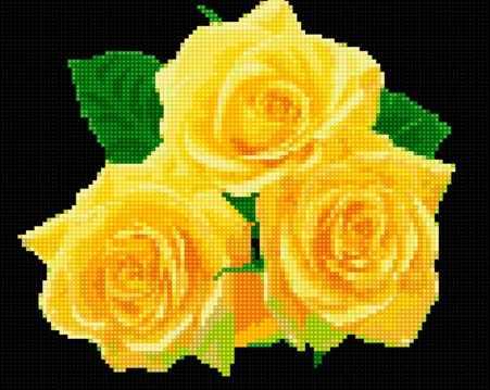 50105 Желтые розы