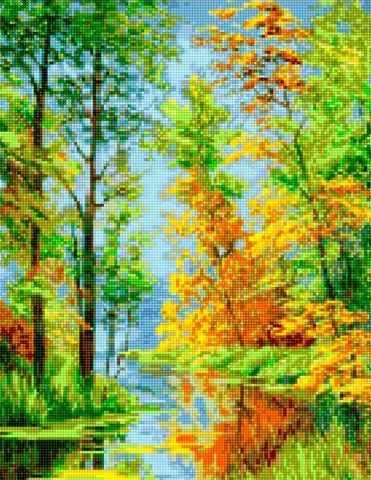 50165 Ручей в лесу
