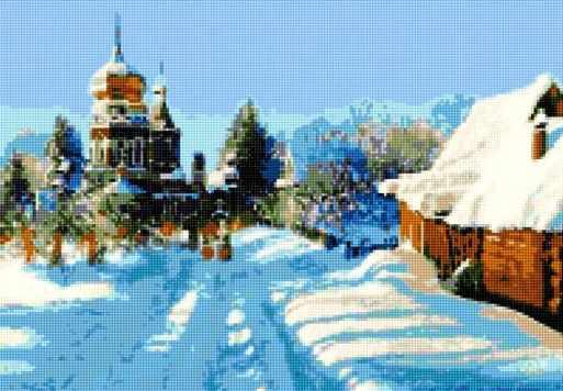 50171 Зима в деревне