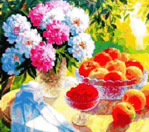 50188 Пионы и яблоки