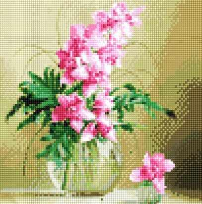900201 Цветы в вазе