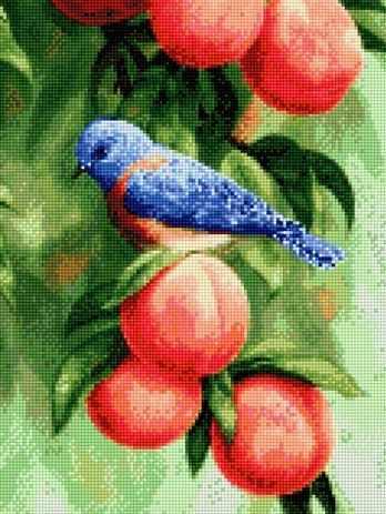 902400 Птичка на персиках
