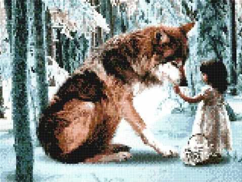 905321 Девочка и волк
