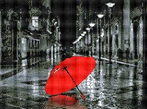 911611 Красный зонтик
