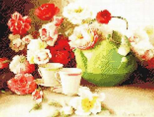 912201 Натюрморт с чайной парой