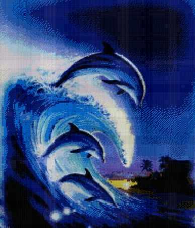 71011-03 Трио дельфинов