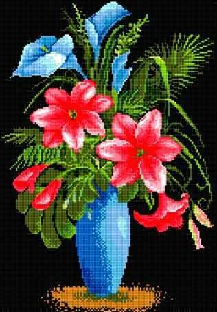 71016-66 Красные лилии
