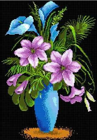 71016-67 Фиолетовые лилии