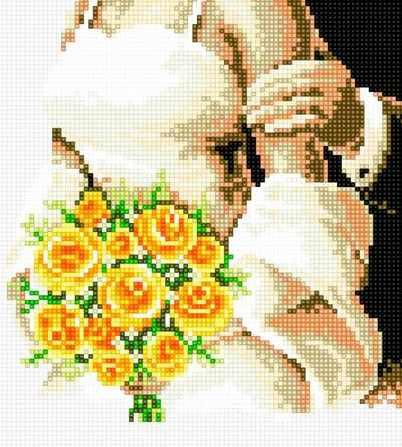 71021-15 Невеста с букетом