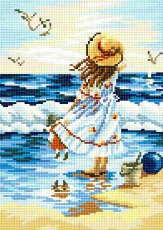 71024-16 Девочка у моря