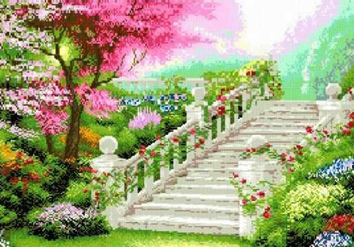71032-14 Лестница в саду