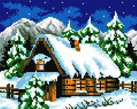 71033-21 Зимняя избушка