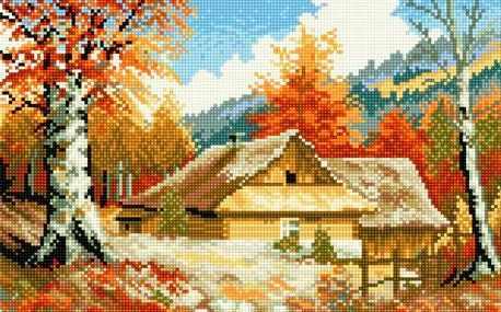 71033-23 Избушка осенью