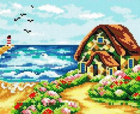71033-31 Прибрежный домик