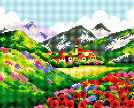 71033-34 Цветы в горах