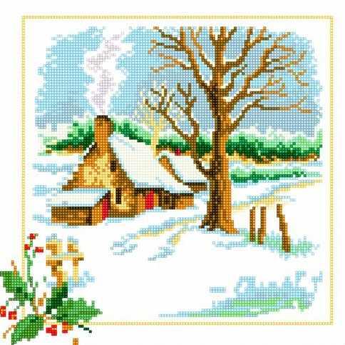 71033-64 Хата зимой