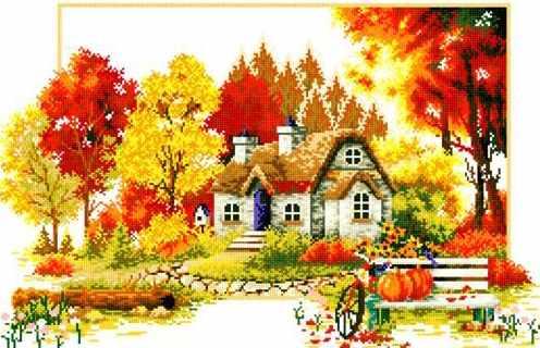 71033-67 Осенний домик