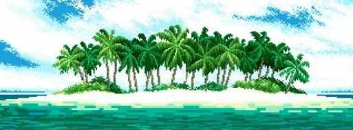 71034-98 Тропический островок