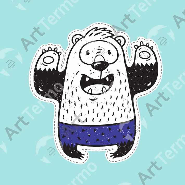 018 - Медведь 10,5х10см