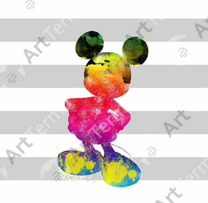 029 - Мики Маус акварель 8,8х15см