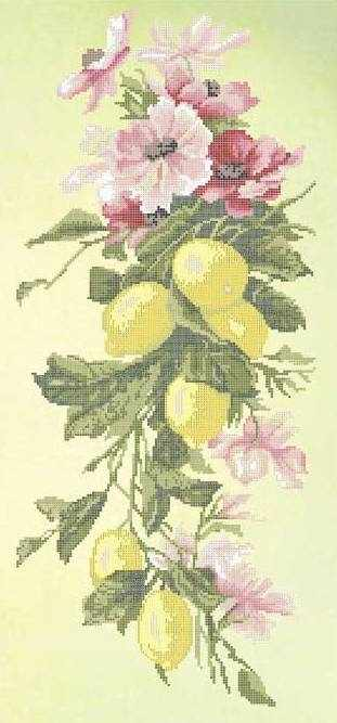 ЗПК-008 Лимонная фантазия - схема для вышивания (Золотая подкова)