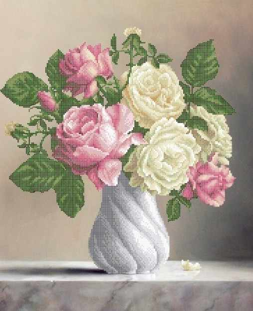 ЗПК-025 Розы в вазе