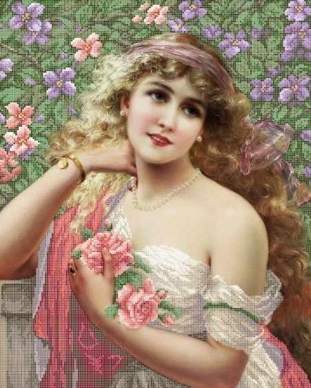 ЗПЛ-006 Девушка с розами