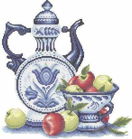ЗПН-005 Гжель и яблоки