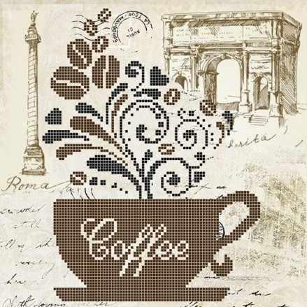 ЗПН-016 Кофе - схема для вышивания (Золотая подкова)