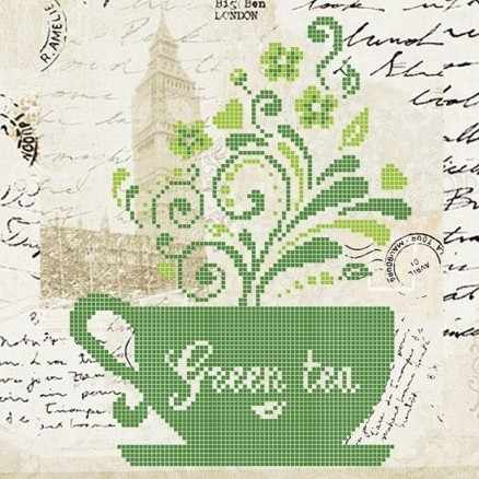 ЗПН-017 Зеленый Чай - схема для вышивания (Золотая подкова)