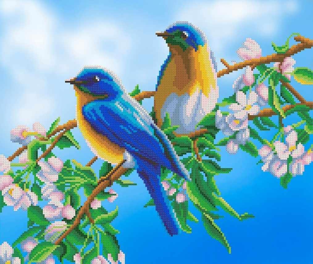 ММЖМ-008 Птицы на цветущей вишне