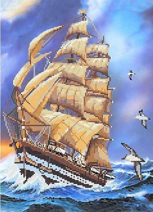 МММР-003 Корабль Гармонии - схема для вышивания (MOSMARA)