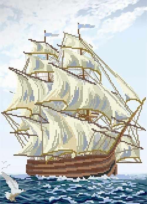 МММР-004 Корабль Благополучия - схема для вышивания (MOSMARA)