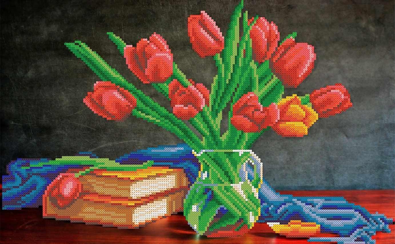 ММН-005 Натюрморт с тюльпанами