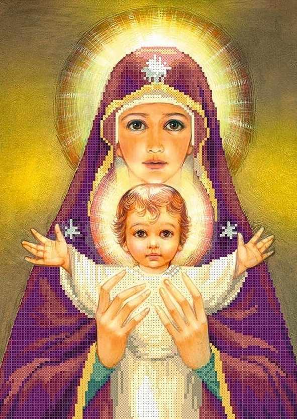 ММР-005 Богородица с младенцем - схема для вышивания (MOSMARA)