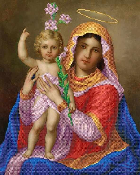 ММР-010 Мадонна с младенцем - схема для вышивания (MOSMARA)