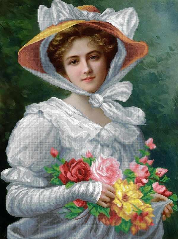 ММРП-005 Элегантная леди с букетом роз, худ. Эмили Вернон