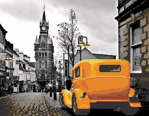 MMГП-001 Лондон. Желтое такси.