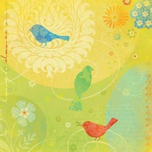646209-КСО Бумага Цветные птицы